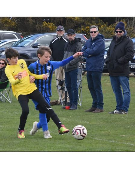 Action from Waveney FC U11 Thundercats v Ormesby U11 at Dip Farm, Lowestoft. Picture: Mick Howes