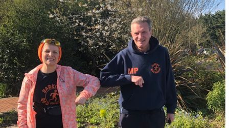 Alison Fryattand Martin Page at the St Clare Hospice 10k