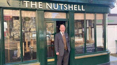 Kevin Reilly of The Nutshell pub in Bury St Edmunds