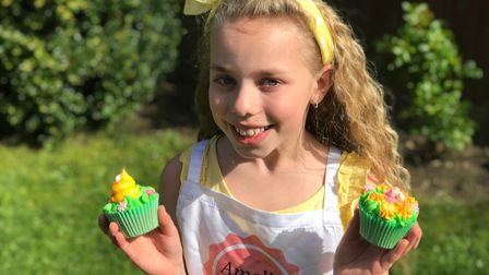 Young baker Amelia Balls has been raising funds for Stand Up To Cancer