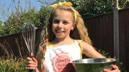 Potter Heigham's Amelia Balls has been inspired by her favourite show the Great British Bake Off to raise funds