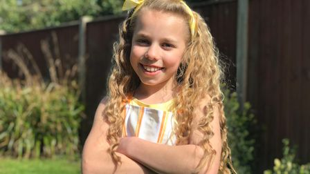 Nine-year-old Amelia Jane Balls from Potter Heigham has raised over £1000 for Stand Up To Cancer