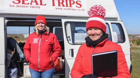 Lucinda Weston, office manager, and Jane Temple, owner, at Temple's Seal Trips at Morston Quay. Pict