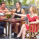 Sipping Rooms in Canary Wharf... reopening its terrace after months of Lockdown
