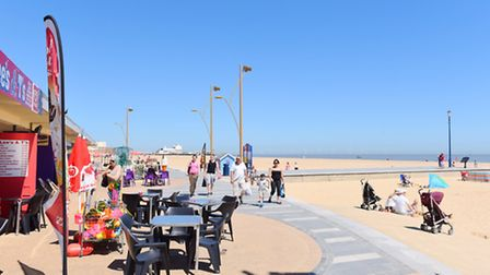 Great Yarmouth seafront on a beautiful summers day.Picture: James Bass
