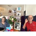 John and Diane Hill celebrating their 64th wedding anniversary atAllonsfield House in Campsea Ashe
