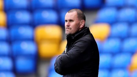 AFC Wimbledon manager Mark Robinson during the Sky Bet League One match at Plough Lane, London. Pict