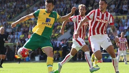Russell Martin scores the equaliser against Stoke. Picture by Paul Chesterton/Focus Images Ltd
