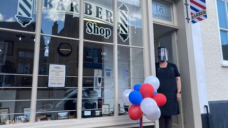 Jane Berry, who lives in Beetley, opened her Dereham shopChurch Street Barbers