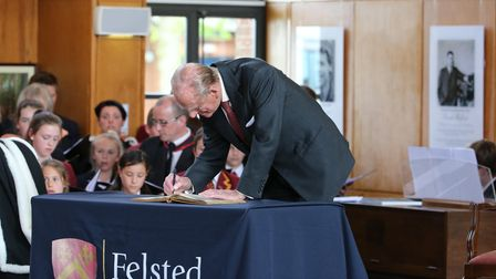 Prince Philip and Her Majesty the Queenvisited Felsted School in2014