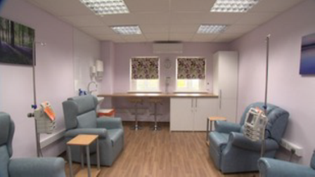 Photo shows the especially adapted Oncology Unit