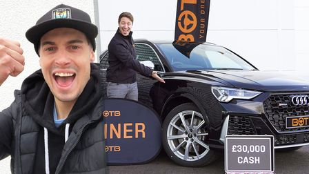 The warehouse operator said he played for the Audi. However, he decided to take the cash alternative