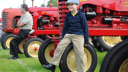 Starting Handle Club show at Marsham. Ben Ramsey, 7, from Rollesby.Picture: ANTONY KELLY