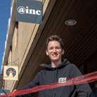 David Thorpe, the latest Inc tenant, officially opens the workspace centre