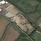 The site of the proposed new lorry park off the A14 at Needham Market