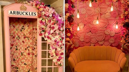Arbuckles has launched bright pink 'special selfie areas' ahead of its reopening on May 17.