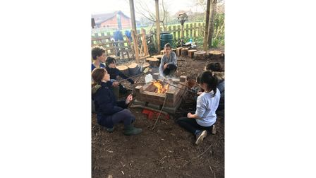 Children from St Joseph's Primary School learning about the outdoors