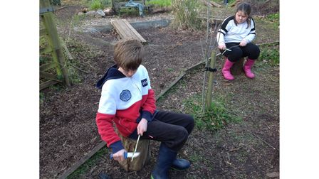 Children at St Joseph's Primary School learning about the outdoors