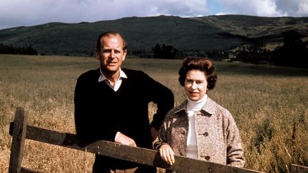 File photo dated 01/09/72 of Queen Elizabeth II and the Duke of Edinburgh at Balmoral to celebrate t