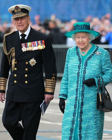 File photo dated 04/07/14 of Queen Elizabeth II and the Duke of Edinburgh at the formal naming cerem