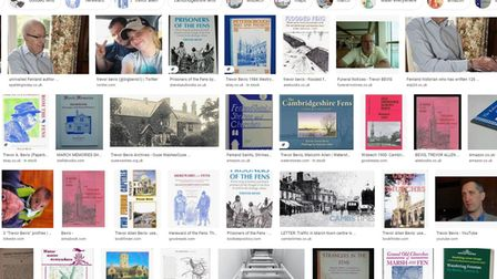Some of the many books that March historian and author Trevor Bevis has written over the years.