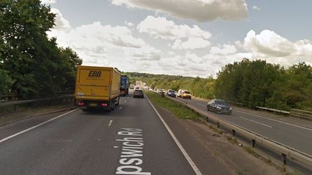 All emergency services are at the scene of a single vehicle crash on the A12 near Stratford St Mary