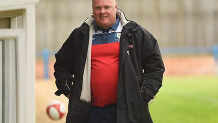 Gary Setchell was all smiles as Lynn beat Rugby thanks to a strike from debutant Jake Speight. Pictu