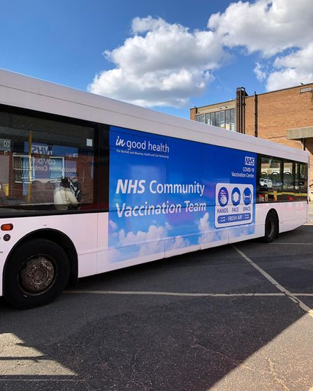 A roving bus service has been launched to vaccinate people in areas ofNorfolk and Waveneywhere uptake has been poor