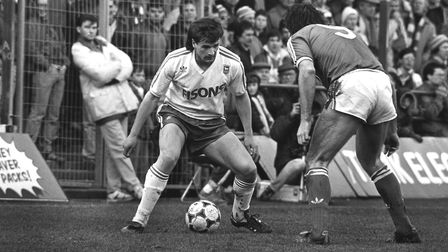 Frank Yallop in action against Brighton in 1987