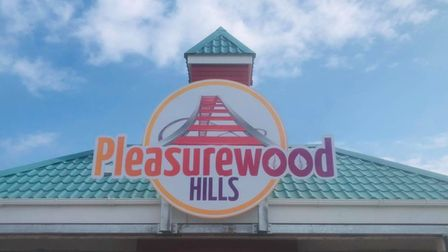 New signage installed atthe entrance to Pleasurewood Hills ahead of the new season starting this weekend.