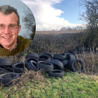 Norfolk farmer Tim Papworth has been a repeated victim of fly-tipping, including tyres dumped over a hedge into a field
