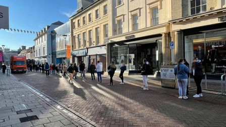 The queue for Ipswich's Primark stretched down to Museum Street