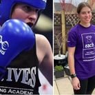 Millie Symons, who represents St Ives Boxing Academy, has raised more than £1,600 for charity