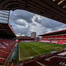 General view of the game during the Sky Bet League One match at The Valley, London.