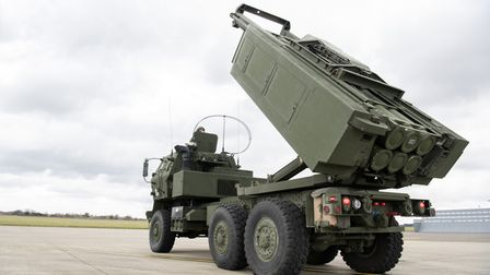 Marines from the 24th Marine Expeditionary Unit used a high mobility artillery rocket system (HIMARS)