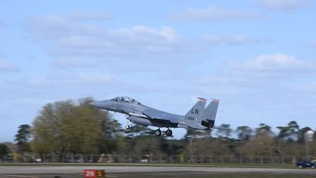 Fighter pilots atRAF Lakenheath have been carrying out training missions in Suffolk