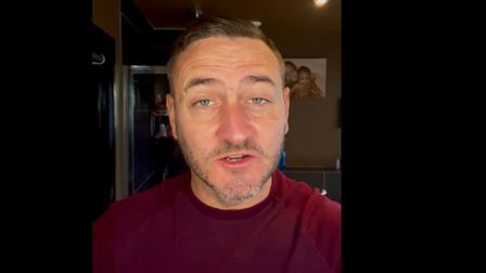 Actor Will Mellor during his video message to Manorcourt Care