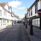 St Peters Street was still quiet. Ipswich highstreet was swarming with people as the shops, hairdres