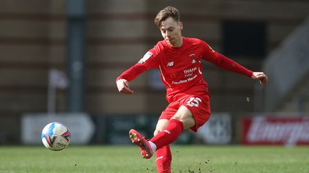 Dan Kemp lets fly for Leyton Orient at The Breyer Group Stadium