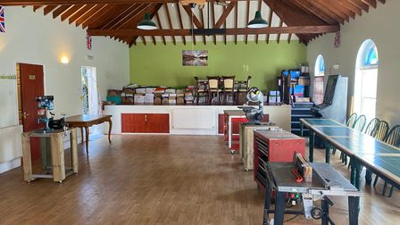 The North Walsham Men's Shed's new space on the grounds of the Grange care home.