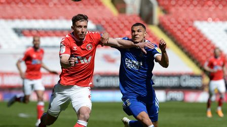Kayden Jackson chases for the ball during the second half at Charlton Athletic