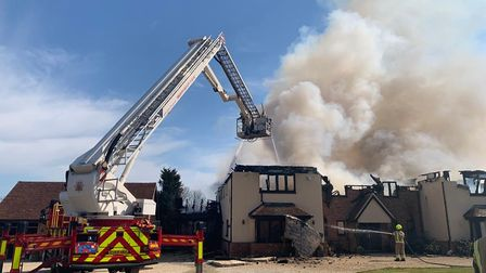 The blaze completely destroyed a home in Tolleshunt Knights, Essex
