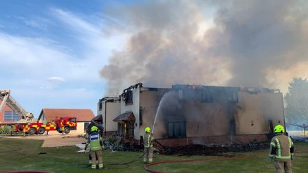 Firefighters were called to the blaze in Tolleshunt Knights, near Tiptree, Essex