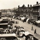 How it used to be in the middle of Dereham on a bustling market day