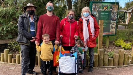 Families returning to Banham Zoo as the attraction reopened to non-members this weekend
