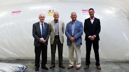 Camvac has celebrated 50 years in Thetford. Steve Jackson, right, with three of the company's former