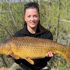 Jenny Holliday with a high double figure Common Carp from Newbarn Fishery