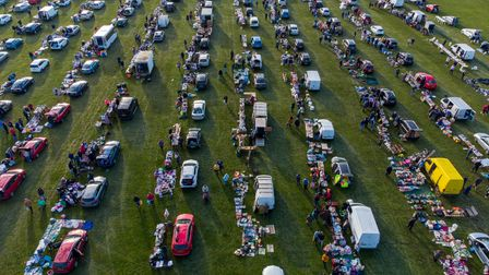 A Popular Cambridgeshire car boot sale returns after a year as hundreds turn up and buy and sell..S