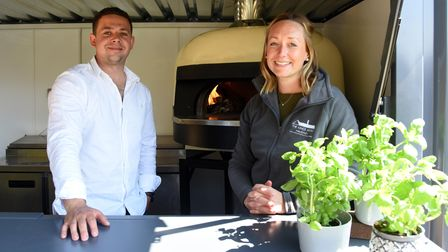 Grant and Lucy will be able to serve customers a range of food and drink outdoors once they reopen on Friday April 23