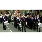 Stowmarket Boys Brigade band leads the St George's Day parade in Bury St Edmunds in 2003